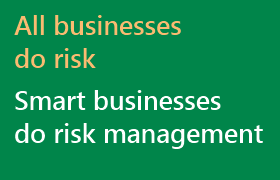 Smart businesses do risk management